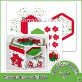 Poinsettia Hexagon Shaped Gift Box.
