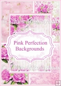Pink Perfection Backgrounds Backing Papers Set of Roses