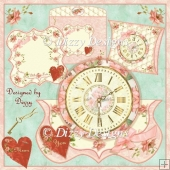 Hands Of Time Clock Card Kit with Pillow Box