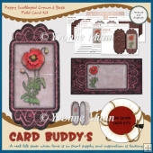 Poppy Scalloped Crown & Base Fold Card Kit