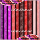10 textured looking backing sheets - Pinks, Purples & Reds
