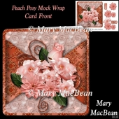 Peach Posy Mock Wrap Card Front