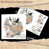 Foxes & Crows Card Topper with elements