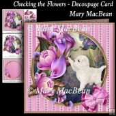 Checking the Flowers - Decoupage Card