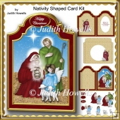Nativity Shaped Card Kit