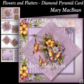 Flowers and Flutters - Diamond Pyramid Card