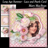Long Ago Summer - Lace and Pearls Card
