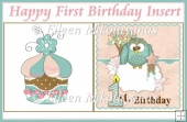 Happy First Birthday Card Insert/Topper