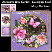 Enchanted Rose Garden - Decoupage Card