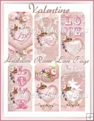 Heirloom Roses Valentine Love Tag Set