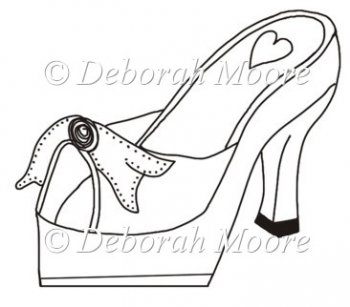Platform high heel shoe instant card making for High heel template for cards