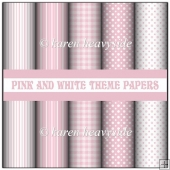 Pink And White Theme Papers