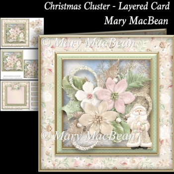 Christmas Cluster - Layered Card