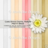Pretty Bride Card Stock Digital Papers {A4 size}