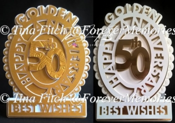 Golden Anniversary Ring, TF0267 SVG, MTC, SCAL, CRICUT, CAMEO