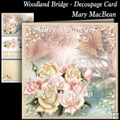 Woodland Bridge - Decoupage Card