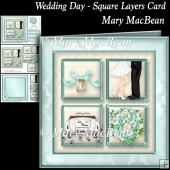 Wedding Day - Square Layers Card