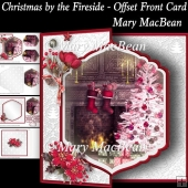 Christmas by the Fireside - Offset Front Card