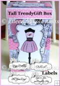Trendy Dressform Tall Gift Box with Sentiments