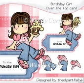 Over The Top Card - Birthday Girl(Retiring in August)