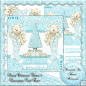 Beary Christmas Charm 3 Decoupage Card Topper