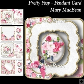 Pretty Posy - Pendant Card