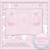 Wedding Anniversary Double Foldback Card Pink