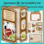 Sportsman Birthday Off-Set Gatefold Card