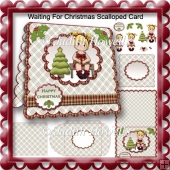 Waiting For Christmas Scalloped Card
