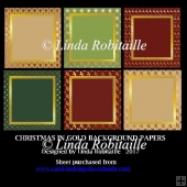 Christmas In Gold Background Papers