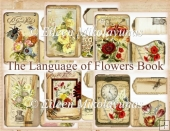 The Language of Flowers 7 Page Journal Book,Tags, Directions