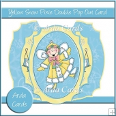 Yellow Snow Pixie Double Pop Out Card