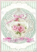 Delightful Day Teapot A4 Card Front