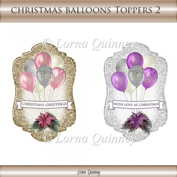 Christmas Balloons Toppers 2