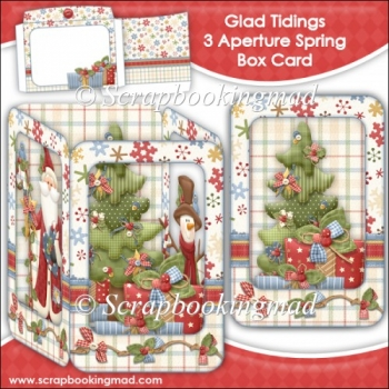 Glad Tidings 3 Aperture Spring Box Card