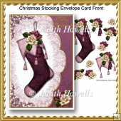 Christmas Stocking Envelope Card Front