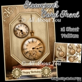 Steampunk Card Front with Pyramage Layers