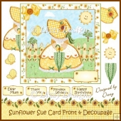 Sunflower Sue Card Front & Decoupage