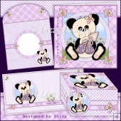 Garden Panda Card Kit with freebie Gift Box