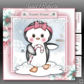 Penguin with Candy Cane Mini Kit