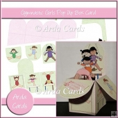 Gymnastic Girls Pop Up Box Card