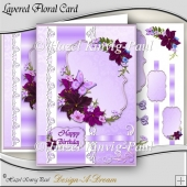 Layered Floral Card Front/Topper