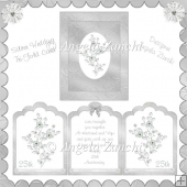 TRI FOLD 25TH WEDDING ANNIVERSAY CARD WITH BOX