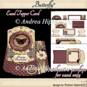 Easel Topper Card with Envelope Butterfly