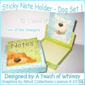 Sticky Notepad Holder - Dog Set 1
