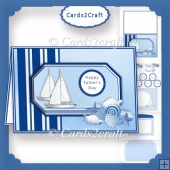 Sail boats and shells kandscap card set