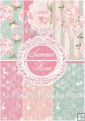 Summer Roses Backing Background Papers Set
