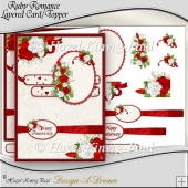 Ruby Romance Layered Card Front/Topper