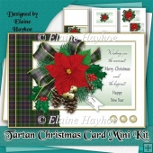 Tartan Christmas Card Mini Kit
