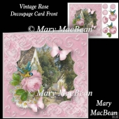 Vintage Rose - Decoupage Card